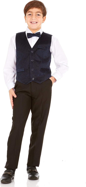 Vittorino Boys Max 67% OFF 4 Piece Suit Set Dress with Kansas City Mall Bow Vest Tie Shirt