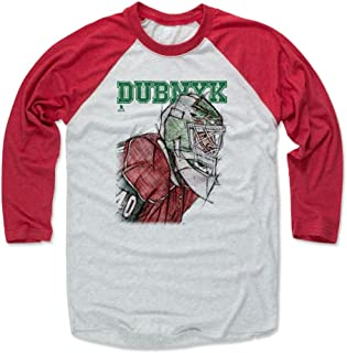 500 LEVEL Devan Dubnyk Shirt - Vintage Minnesota Hockey Raglan Tee - Devan Dubnyk Sketch
