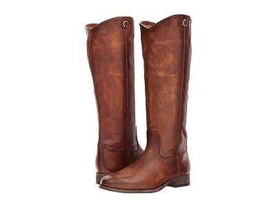 Frye Melissa Button 2 (Cognac Extended) Cowboy Boots