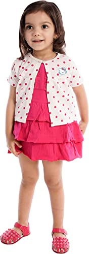 Orange and Orchid Girls' A-Line Knee-Long Dress