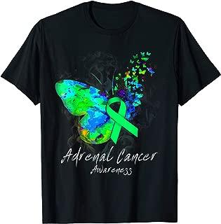 ADRENAL CANCER Awareness butterfly Green ribbon T-Shirt