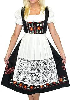 Dirndl Trachten Haus 3-Piece Long German Wear Party Oktoberfest Waitress Dress