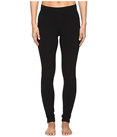 Hard Tail High Rise Ankle Leggings (Black) Women