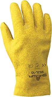 SHOWA 962 Fully Coated PVC Glove with Cotton Jersey Liner, Large (Pack of 12 Pairs)