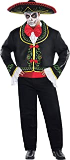 Suit Yourself Day of the Dead Sombrero Senor Halloween Costume for Men, Plus Size, with Accessories