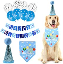 Felenny Hond Verjaardagsfeestje Ballonnen Set Dierbenodigdheden Bandana Hoed Gelukkige Verjaardag Banner Ballonnen Kit Die...