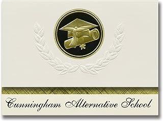 Signature Announcements Cunningham Alternative School (Vineland, NJ) Graduation Announcements, Presidential style, Elite p...