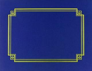 优质纸张! *蓝亚麻证书罩,30.48cm x 24.77cm,3 件 (938903)