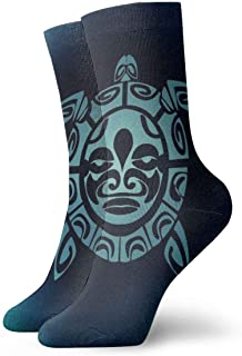 AEMAPE, Turtle Abstract Beautiful Cushion Crew Calcetines Essential Sport Wicking Work para hombres y mujeres
