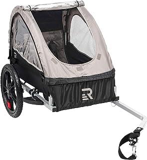 تریلر دوچرخه تریلر دوچرخه Retrospec Rover کودکان و نوجوانان تک سرنشین شده در پشت تریلر دوچرخه با چرخهای 16 اینچ ، چرخهای بازتابنده ایمنی CPSC و محفظه ذخیره سازی عقب
