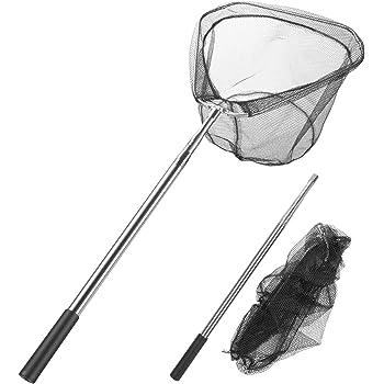 Fischen Kescher Gummi Handgriff Fischnetz Fangen /& Freilassen Angelzubehör