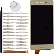 Goodyitou LCD Screen Display with Digitizer Touch Panel Without Bezel Frame Compatible with Sony Xperia X F5121 F5122(Golden)