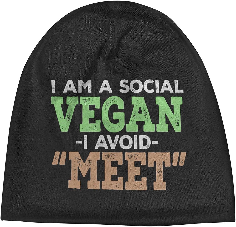Long-awaited Social Vegan I Avoid Meet Slogan Beanie Warm Cap Unisex Vin Low price Hats