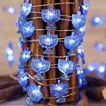 Chanukah Decorative Lights, Impress Life Menorah String Lights 10 ft Copper Wire 40 LEDs New Battery-Powered for Jewish Ha...