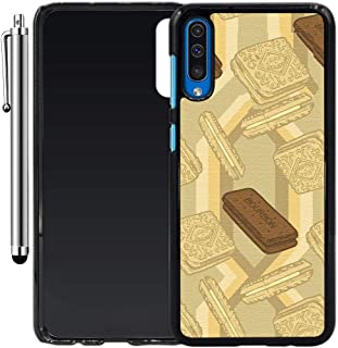 Custom Case Compatible with Galaxy A50 (Bourbon Biscuits) Plastic Black Cover Ultra Slim | Lightweight | Includes Stylus Pen by Innosub