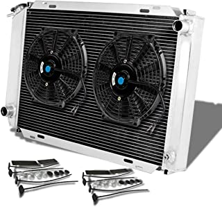 For Ford Mustang 3rd Gen (Manual Transmission) 3-Row Tri Core Racing Radiator+2 x 10 inches Black Fan