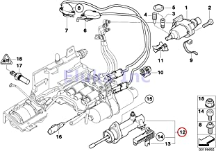 BMW Genuine Smg Actuator Sensoren Clutch Slave Cylinder With Position Sensor 325Ci 325i 330Ci 330i 525i 530i Z4 2.5i Z4 3.0i