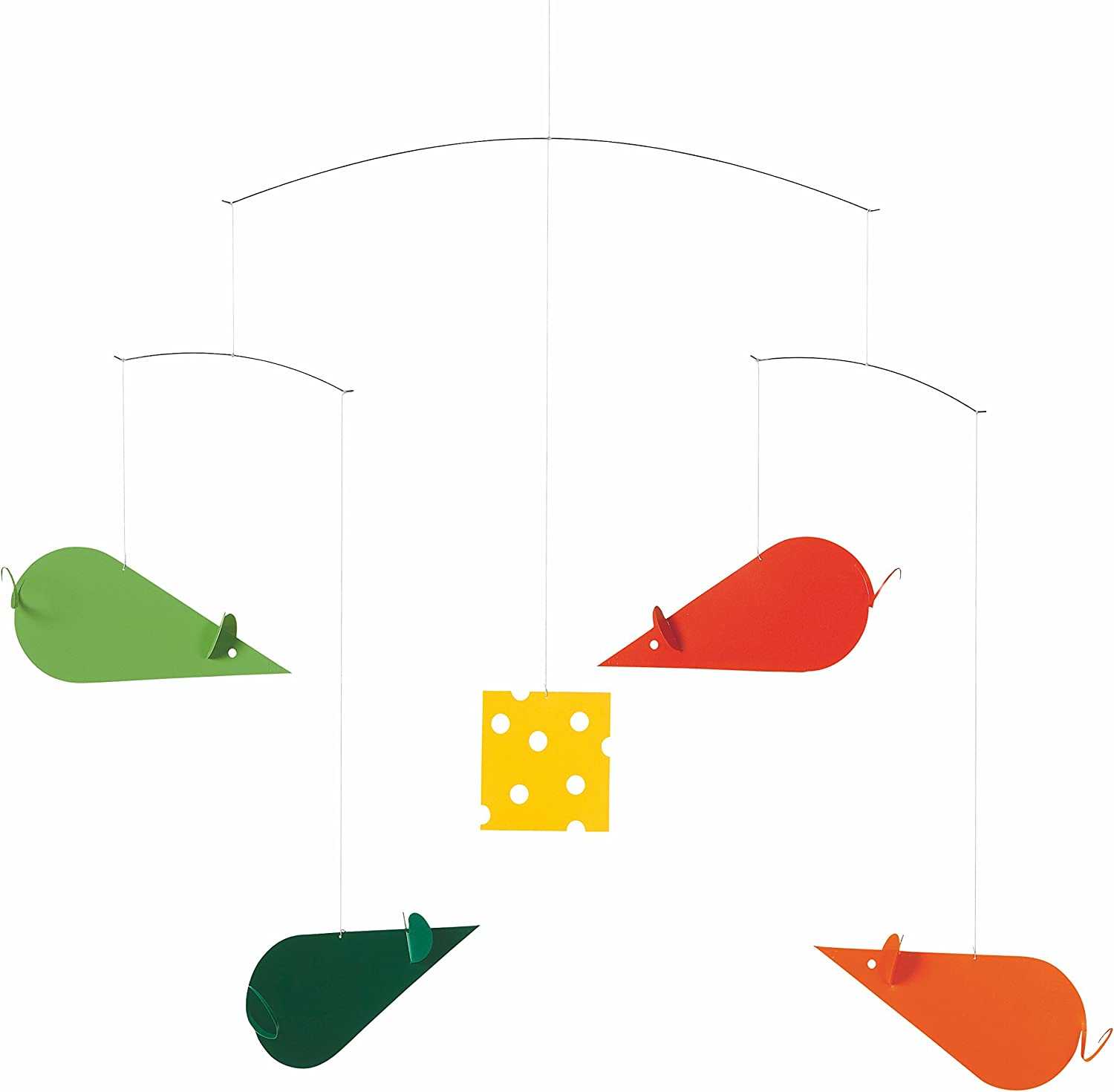 Flensted Mobiles Colorful Cheese Hanging Mice Nursery Max 83% OFF M Now free shipping