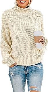 Women's Turtleneck Sweaters Long Batwing Sleeve Oversized...