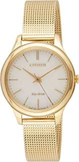 Citizen Women White Dial Stainless Steel Band Watch - EM0502-86P