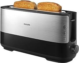 Philips Broodrooster - 8 Bruiningsinstellingen - Uitneembare kruimellade - Ingebouwde opzethouder voor broodjes - Ontdooi-...