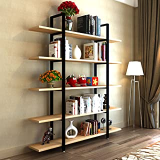 Tribesigns 5-Tier Bookshelf, Vintage Industrial Style...