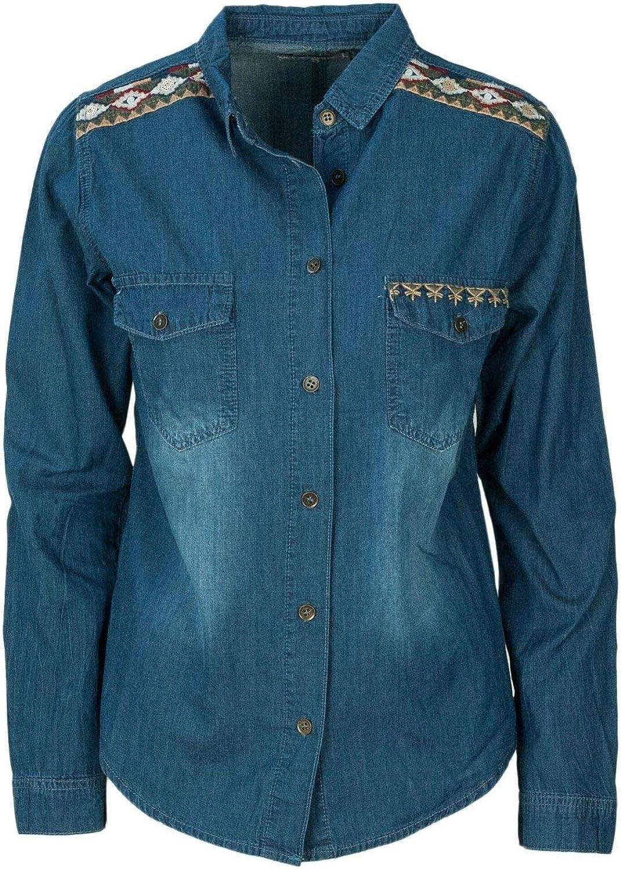 Desigual Women's 18WWCD02blueE bluee Cotton Shirt