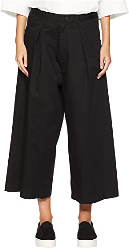O-Front Tuck Wide Pants