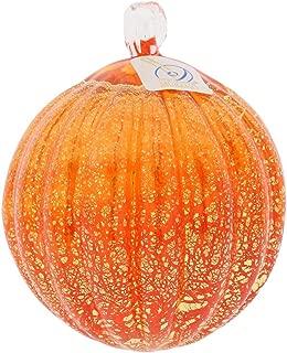GlassOfVenice Murano Glass Medium Christmas Ornament - Orange