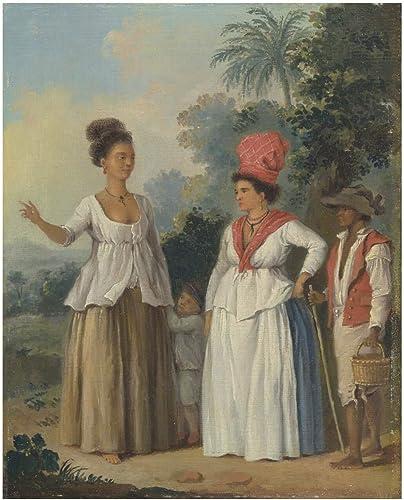 Spiffing Prints Agostino Brunias - West Indian mujer of Color - Medium - Matte - Framed