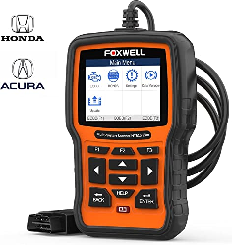 popular FOXWELL NT510 Elite OBD2 Code Reader for Honda Acura Automotive Scan Tool All System Bi-Directional Diagnostics Scanner ABS SRS wholesale Transmission outlet online sale Auto Bleed SAS TPMS EPB Oil Reset (Enhanced Version) outlet sale