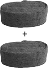Cloudnine Grade 0000 Steel Wool Roll; Super Fine Wire Wool Pad for Glass Furniture Tray Metal Precision Tool Cleaning Polishing or Photography (Pack of 2)