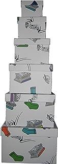 Vily's House Cajas cartón Decoradas con Dibujos Set de 6