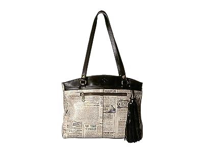 Patricia Nash Poppy Tote (Newspaper) Tote Handbags