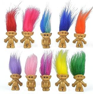 "10PCS Mini Troll Dolls, PVC Vintage Trolls Lucky Doll Mini Action Figures 1.2"" Cake.."
