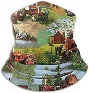 SDSCfhk Harvester Farmall Tractor Cotton Neck Warmer Gaiter, Polar Fleece Ski Face Mask Cover for Winter Cold Weather & Keep Warm