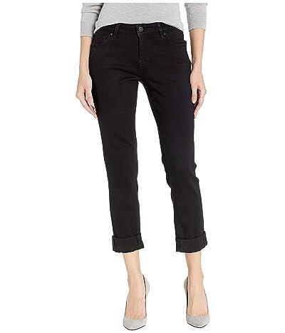 Jag Jeans Carter Girlfriend Crosshatch Denim Jeans (Black Void) Women