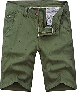 Zolulu Men's Cotton Casual Classic-Fit Cargo Shorts