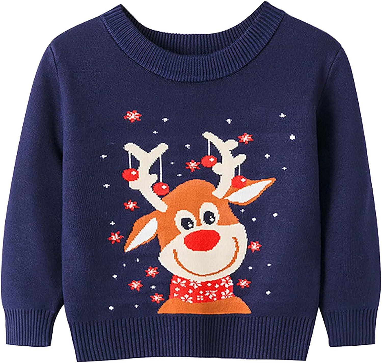Toddler Unisex Boys shop Inexpensive Girls Winter Sweater Cute Christmas Cartoon