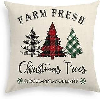 plaid christmas pillows