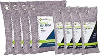 Breathe Green Bamboo Charcoal Air Freshener Bags (8-Pack), Activated Charcoal Odor Absorber, Natural Air Freshener Removes Odor and Moisture, Odor Eliminator for Car, Closet, Bathroom, Pets, Shoes…