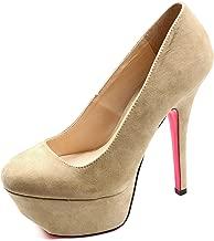Qupid Women's Psyche-01 Platform High Heel Pumps Fashion Shoes