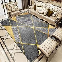 Terras Eenvoudige stijl geometrisch patroon, vlekbestendig, comfortabel en wasbaar buiten tapijten Zwart buiten tapijten M...