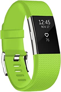 """Fitbit Charge 2 Bands, Zodaca Replacement Wristband Sport Strap Smartwatch Fitness Original Print Pattern Band for Fitbit Charge 2, Standard Size (5.5"""" to 7.5"""")"""