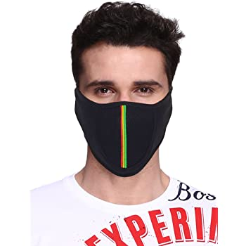Big Tree® Pro Bike Riding & Cycling Anti Pollution Dust Sun Protecion Half Face Cover Mask (Black)