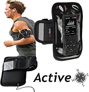 Navitech Black MP3/MP4 Sports Running Armband Compatible with The TREKSTOR 79424 i.Beat Move