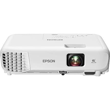 Epson VS260 3-Chip 3LCD XGA Projector, 3,300 Lumens Color Brightness, 3,300 Lumens White Brightness, HDMI, Built-in Speaker, 15,000:1 Contrast Ratio, Small