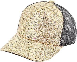 efa250a4a54 Surkat Kids Glitter Shimmer Baseball Cap Casual Snapback Sunhat Adjustable Baseball  Hat