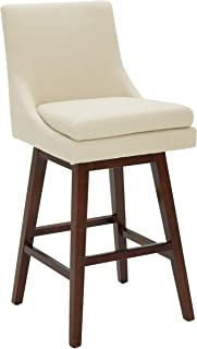alaina upholstered swivel barstool with back