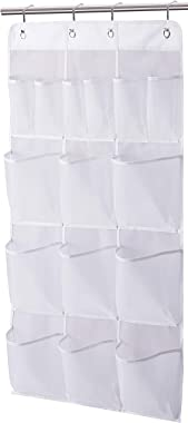 Misslo Mesh Shower Organizer Hanging 15 Pockets Bathroom Storage, Extra Large Capacity for Toiletry Accessories, White